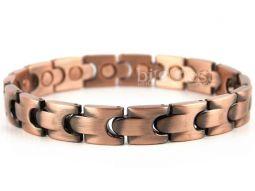 Unisex Stylish Magnetic Bracelet Copper Finish Magnet NdFeB Neodymium Therapy