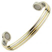 Super Strong MAGNETIC Bracelet/Bangle Gold & Chrome DESIGN 6 Magnets Health Rare Earth NdFeB