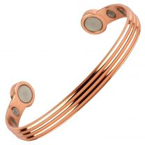 Super Strong MAGNETIC Bracelet/Bangle Shiny Copper DESIGN 6 Magnets Health Rare Earth NdFeB