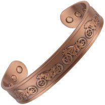 Chunky Copper Bracelet/Bangle Motor Bike 6 Magnets Health Rare Earth NdFeB