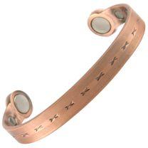 Super Strong MAGNETIC Bracelet/Bangle Copper Kisses DESIGN 6 Magnets Health Rare Earth NdFeB