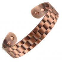 Sisto-X® Copper Magnetic Bracelet/Bangle Chunky Link Design 6 Magnets Health NdFeB