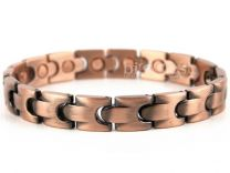 Unisex Stylish Magnetic Bracelet Copper Finish Magnet NdFeB Neodymium Therapy