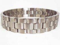Mens Chrome Finish Titanium Magnetic Bracelet Link Design Health 22 Magnets Therapy